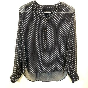 J. CREW black label sheer textured long sleeve 0 S